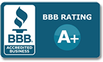 BBB A+ Rating Over 25 Years!