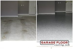Garage floor coating and resurfacing service - refinishing with epoxy paints with industrial quality products supplied by GarageFloorCoating.com