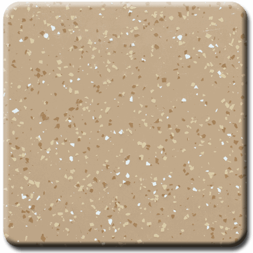 Light Brown Sand White Pebble Beach 1/8 Heavy Spread