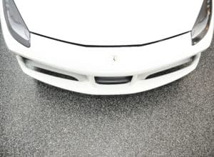 anti skid epoxy slip resistant garage floor white car GarageFloorCoating.com