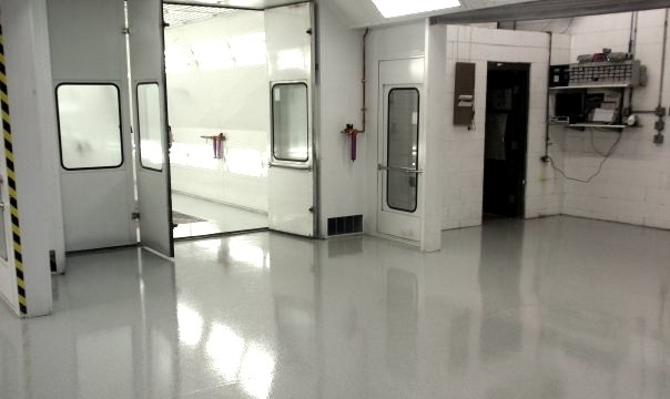 durability of an epoxy coating interior commercial cold room