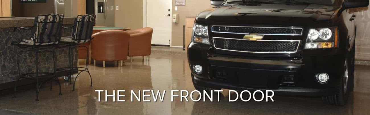 the garage is America's new front door polyaspartic floor coatings
