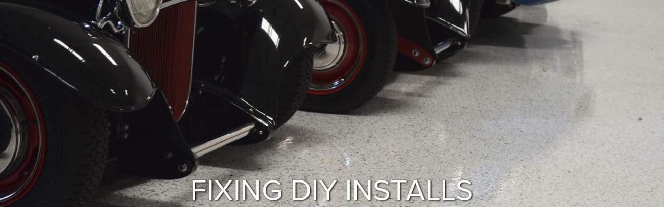 fixing DIY epoxy applicatons GarageFloorCoating.com