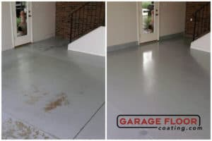 before and after epoxy installs epoxy flooring interior basement GarageFloorCoating.com