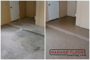 before and after epoxy installs epoxy polyaspartic garage floor coating