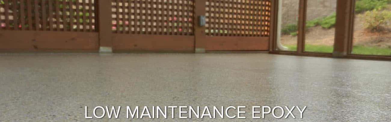 ease of maintenance epoxy flooring GarageFloorCoating.com