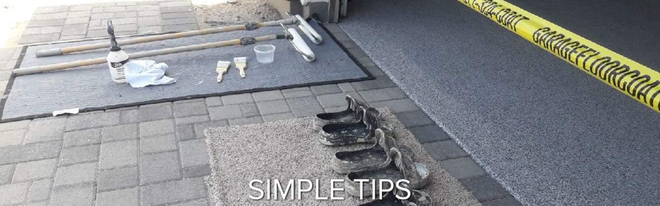 protecting customer property during epoxy polyaspartic installations garage floor coating epoxy flooring