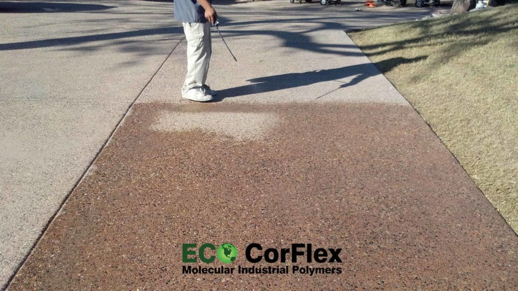how to remove concrete sealer before staining