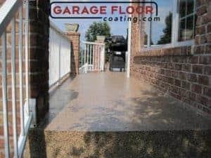 low maintenance epoxy coatings outdoor walkway porch