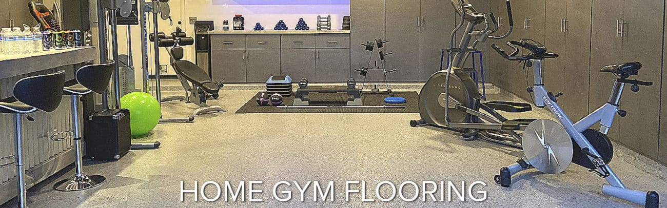 home gym epoxy flooring polyaspartic garage floor coating GarageFloorCoating.com