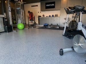 Home Gym Epoxy Flooring Mica Chip System