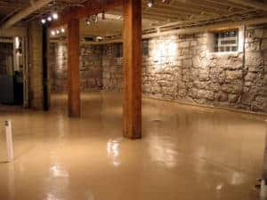 quality flooring solid color epoxy coating system interior basement