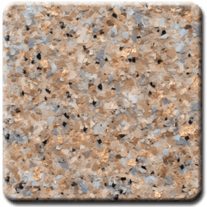 Epoxy flooring Mica Media Bagari SE Arcadia garage floor coating color sample