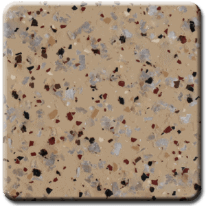 Epoxy flooring Mica Media Diamond Effects Chestnut with Rust Red garage floor coating color chip sample