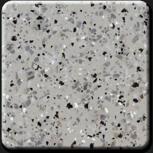 Epoxy flooring Mica Media Diamond Effects Coastline garage floor coating color chip sample