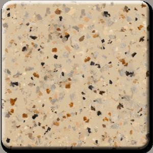 Epoxy flooring Mica Media Diamond Effects Santana Gold garage floor coating color chip sample