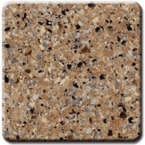 Epoxy flooring Mica Media Earth Effects Caramel Latte garage floor coating color chip sample
