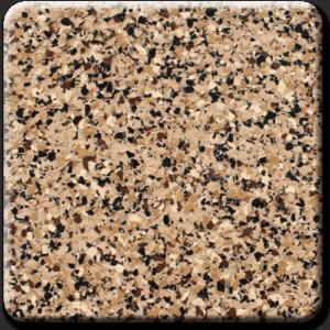 Epoxy flooring Ultra Chestnut garage floor coating color sample