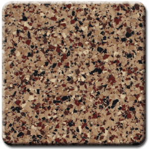 Epoxy flooring Ultra Chestnut with Rust Red garage floor coating color sample