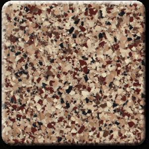 Epoxy flooring Ultra Sedona garage floor coating color sample