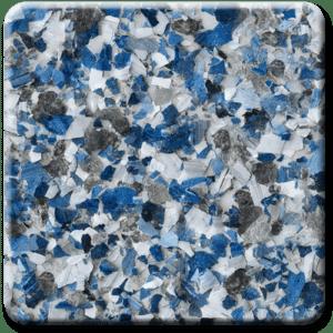 Epoxy flooring Mica Media Vintage Mica Cobalt garage floor coating color sample