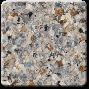 Epoxy flooring Mica Media Vintage Mica Desert Edge garage floor coating color sample