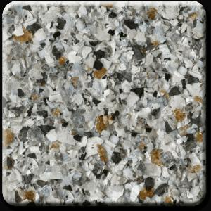 Epoxy flooring Mica Media Vintage Mica Gold Mine garage floor coating color sample