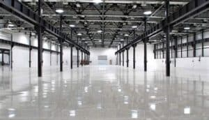 Commercial epoxy flooring for large storage facility